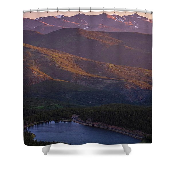 Shower Curtain featuring the photograph Layers by John De Bord