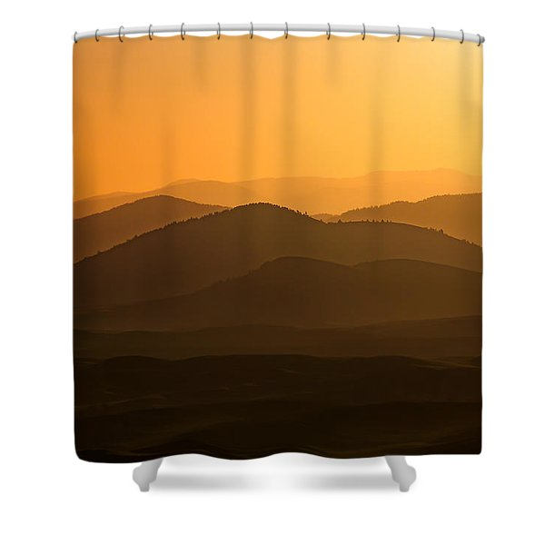 Layers Of The Saint Joes Shower Curtain