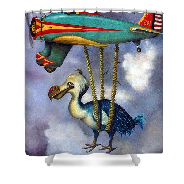 Lazy Bird Shower Curtain