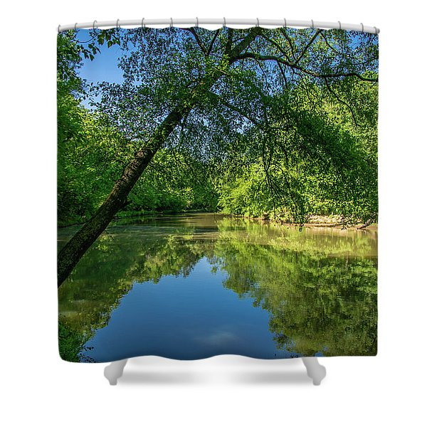 Lazy Summer Day On The River Shower Curtain