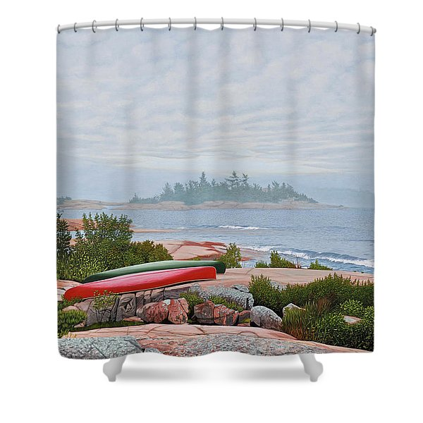 Le Hayes Island Shower Curtain