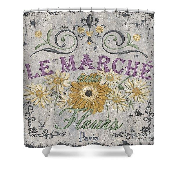 Le Marche Aux Fleurs 1 Shower Curtain