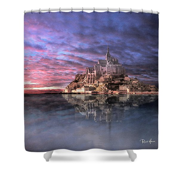 Le Mont Saint Michel At High Tide Shower Curtain