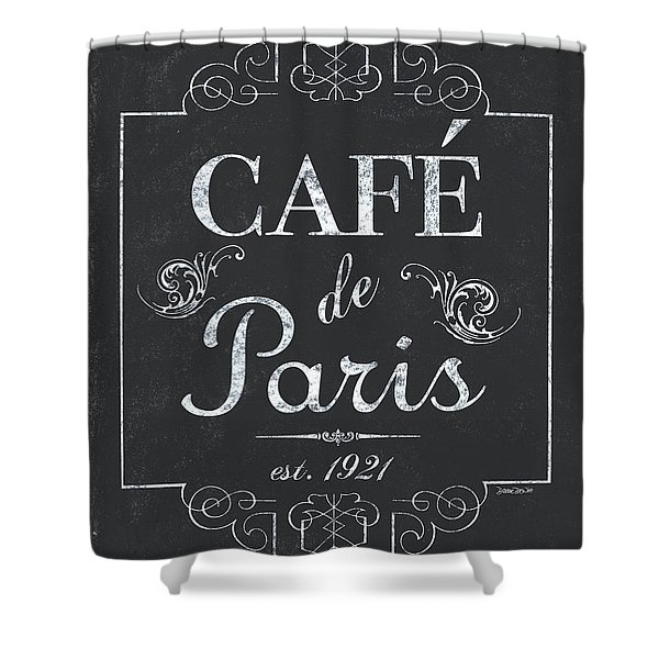 Le Petite Bistro 3 Shower Curtain