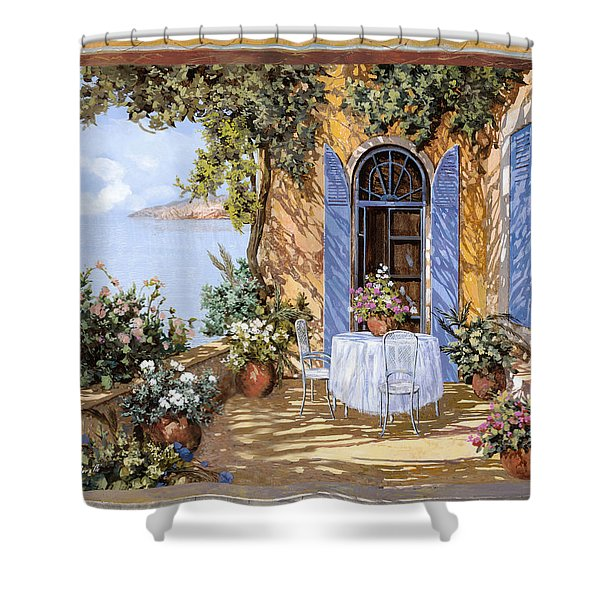 Le Porte Blu Shower Curtain