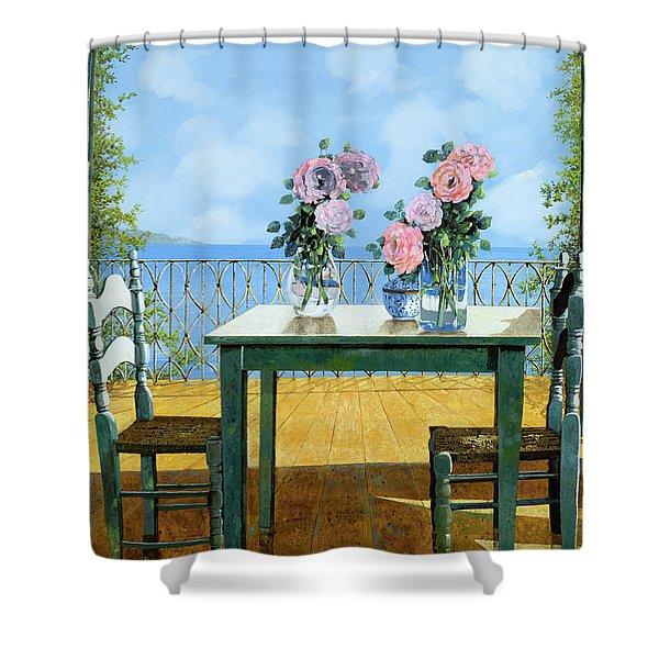 Le Rose E Il Balcone Shower Curtain