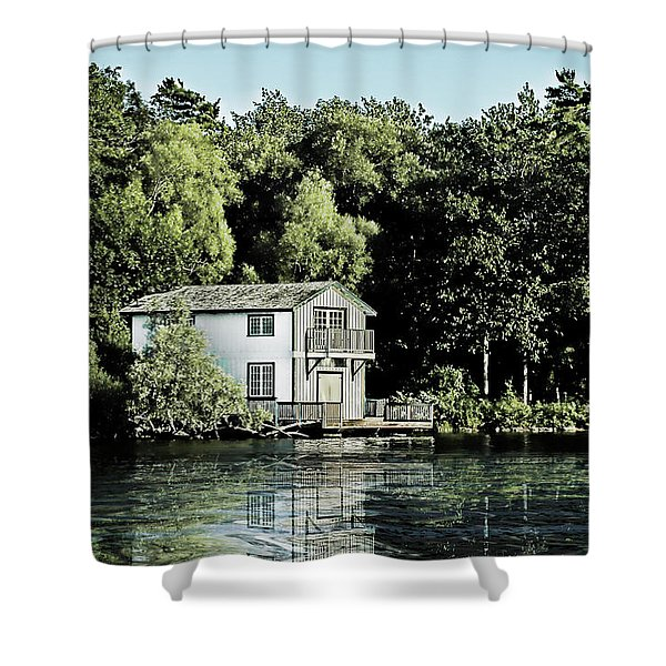 Leacock Boathouse Shower Curtain