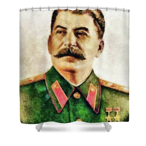 Leaders Of Wwii - Joseph Stalin Shower Curtain