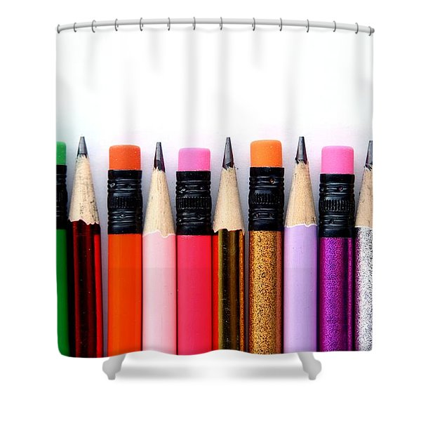 Leads And Erasers Shower Curtain