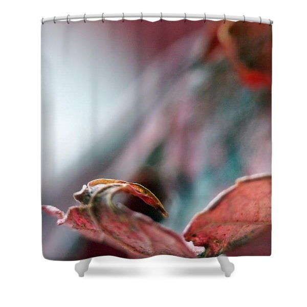 Leaf Abstract I Shower Curtain