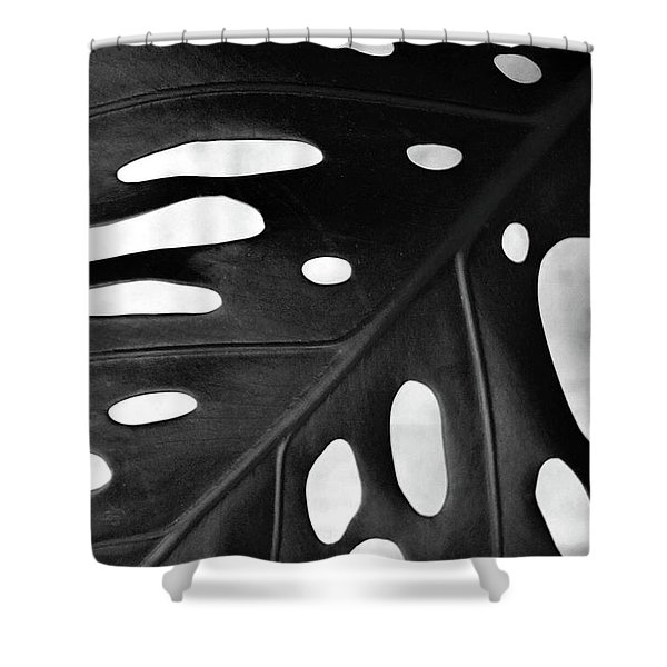 Leaf With Holes Shower Curtain