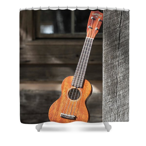 Leaning Uke Shower Curtain