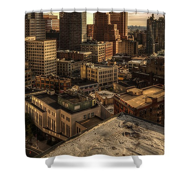 Shower Curtain featuring the photograph Leap Of Faith by Break The Silhouette