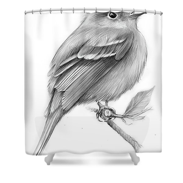 Least Flycatcher Shower Curtain