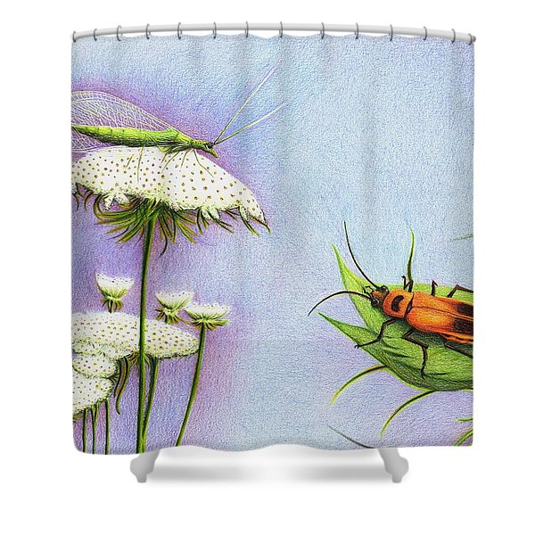 Leather And Lace... For The Gardeners Shower Curtain