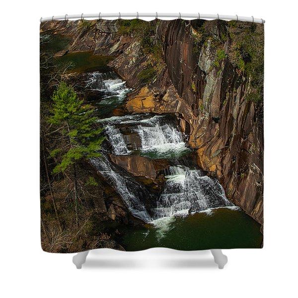 L'eau D'or Falls Shower Curtain