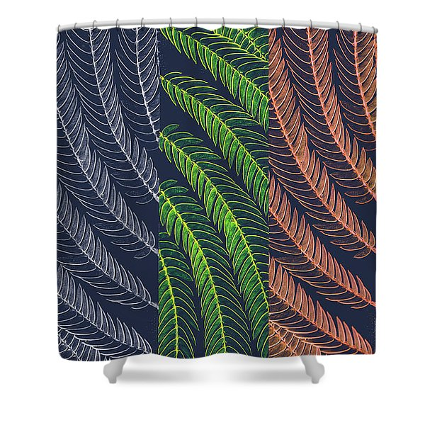 Leaves In Art Shower Curtain