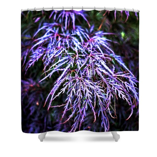 Leaves In The Light Shower Curtain