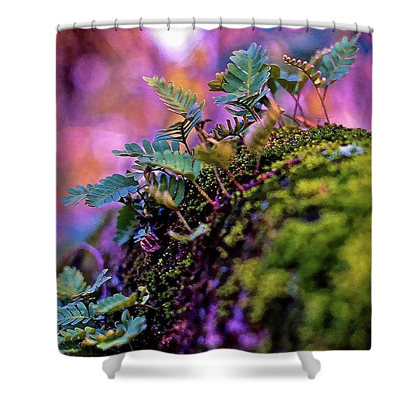 Leaves On A Log Shower Curtain