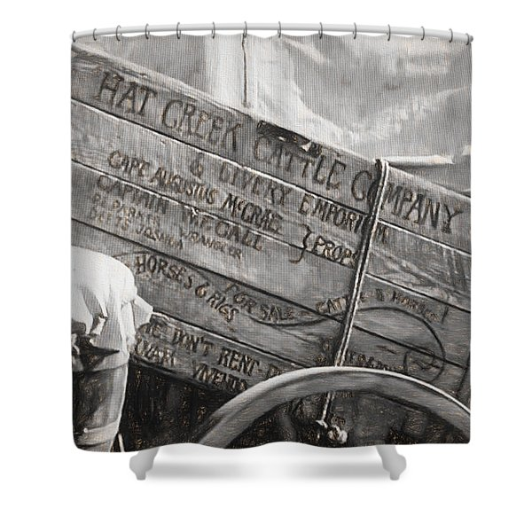 Leaving Lonesome Dove Shower Curtain