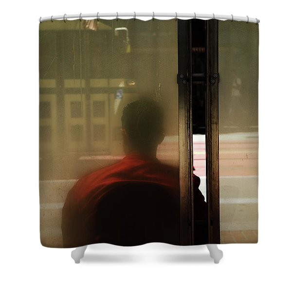 Leaving On A Train Shower Curtain