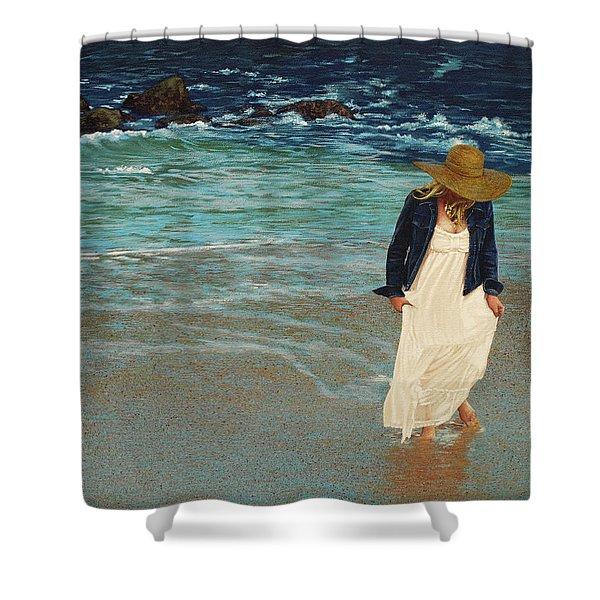 Leaving The Beach Shower Curtain