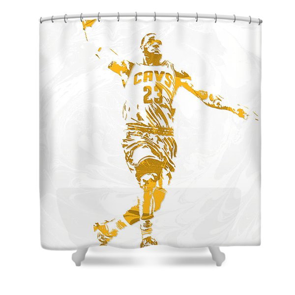 Lebron James Cleveland Cavaliers Pixel Art 12 Shower Curtain