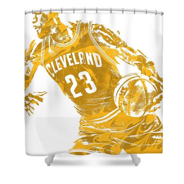 Lebron James Cleveland Cavaliers Pixel Art 20 Shower Curtain