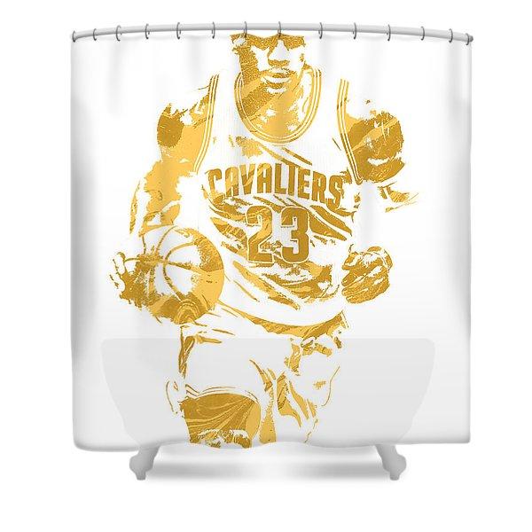Lebron James Cleveland Cavaliers Pixel Art 7 Shower Curtain