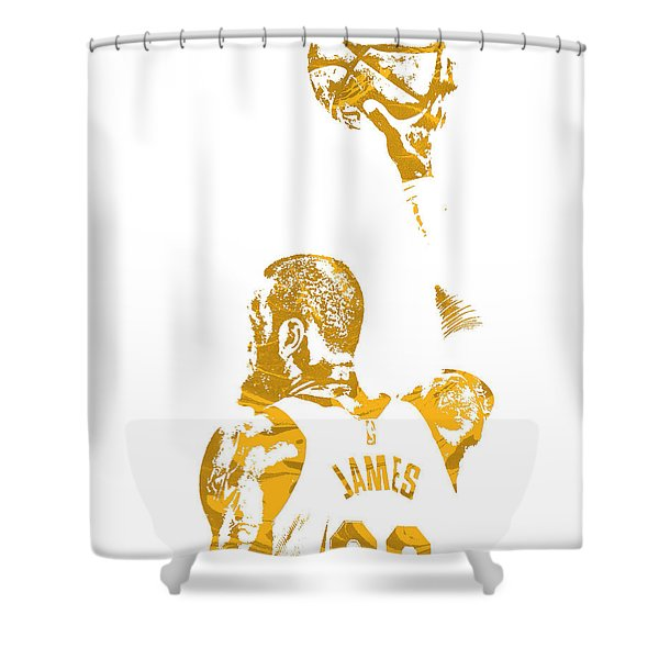 Lebron James Cleveland Cavaliers Pixel Art 71 Shower Curtain