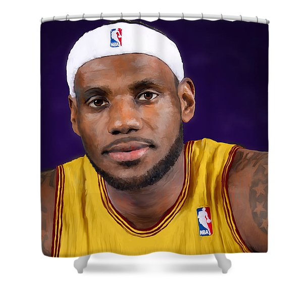 Lebron James Shower Curtain
