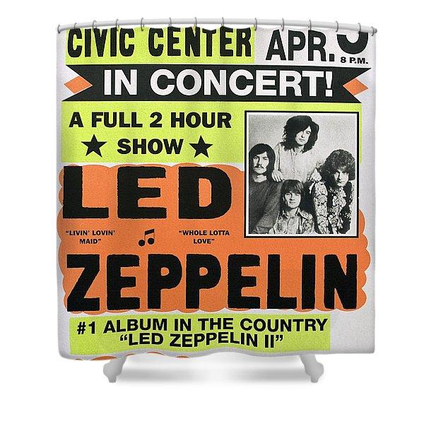 Led Zeppelin Concert Poster 1970 Shower Curtain
