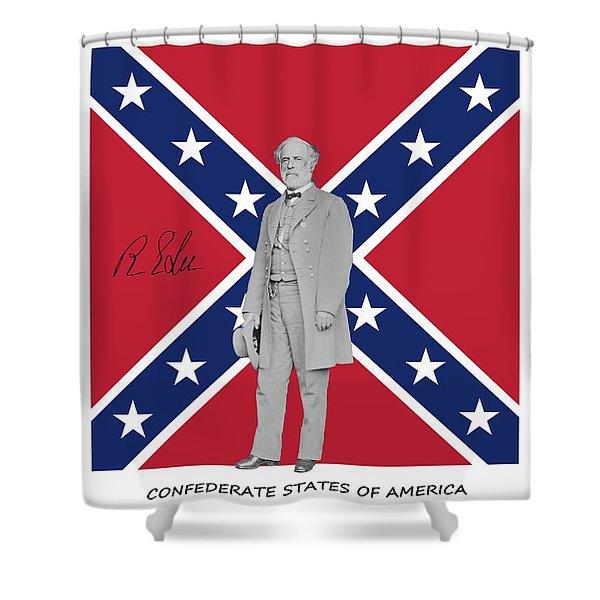 Lee Battleflag Shower Curtain