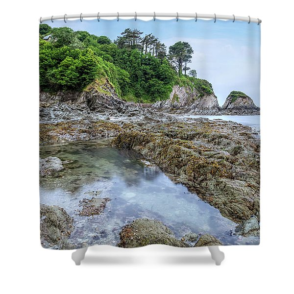 Lee Bay - England Shower Curtain