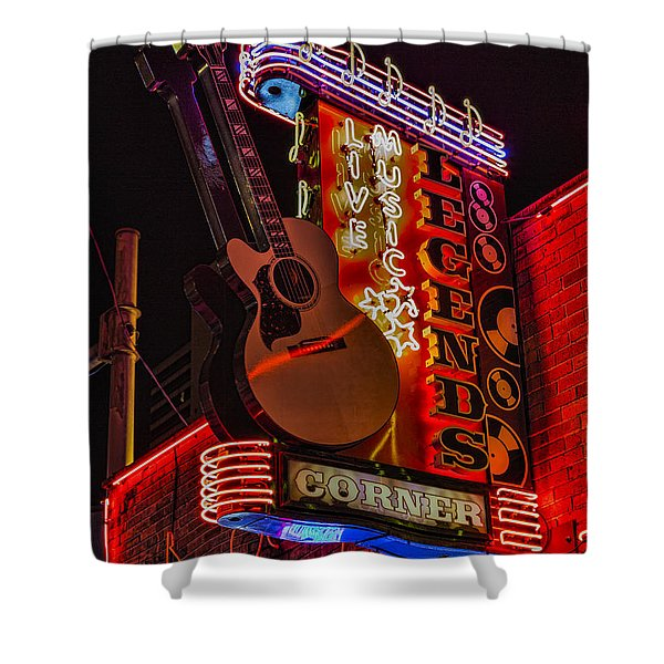 Legends Corner Nashville Shower Curtain