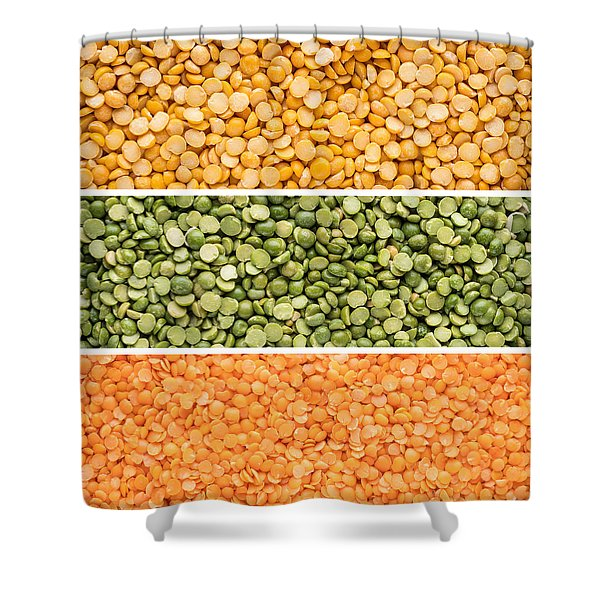 Legumes Triptych Shower Curtain