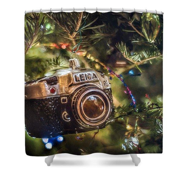 Leica Christmas Shower Curtain