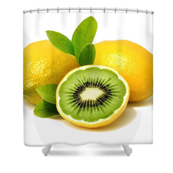 Lemon Kiwi Shower Curtain