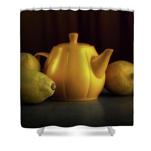 Lemon Yellow Shower Curtain