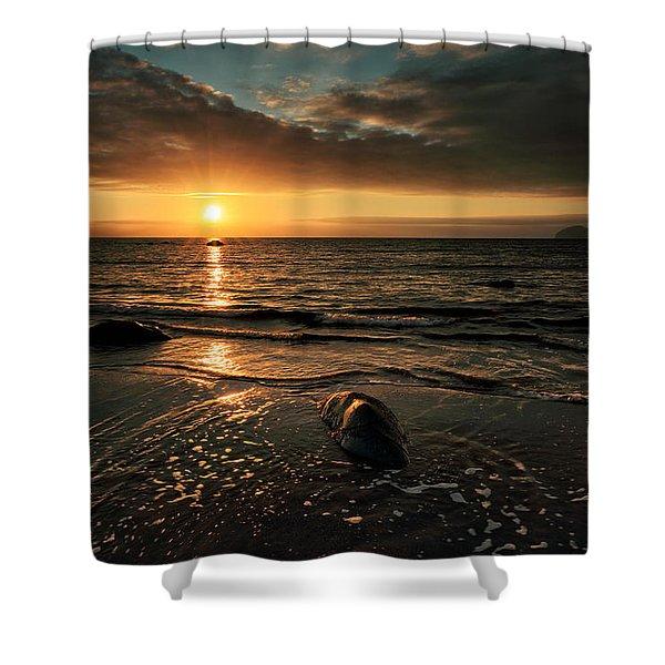 Lendalfoot Sunset Shower Curtain
