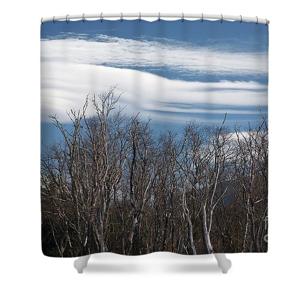 Shower Curtain featuring the photograph Lenticular Clouds - White Mountains New Hampshire  by Erin Paul Donovan