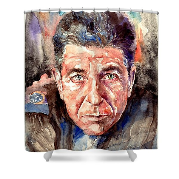 Leonard Cohen Painting Shower Curtain