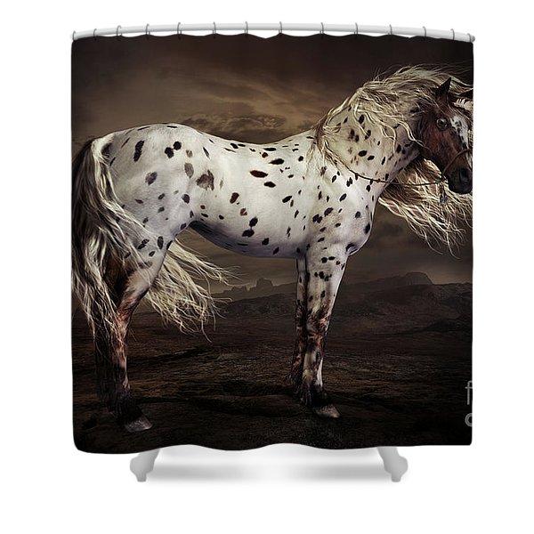 Leopard Appaloosa Shower Curtain