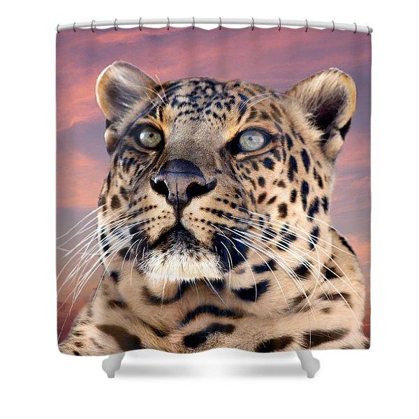 Leopard Portrait Number 3 Shower Curtain