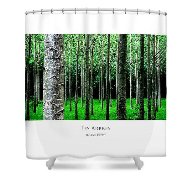 Les Arbres Shower Curtain