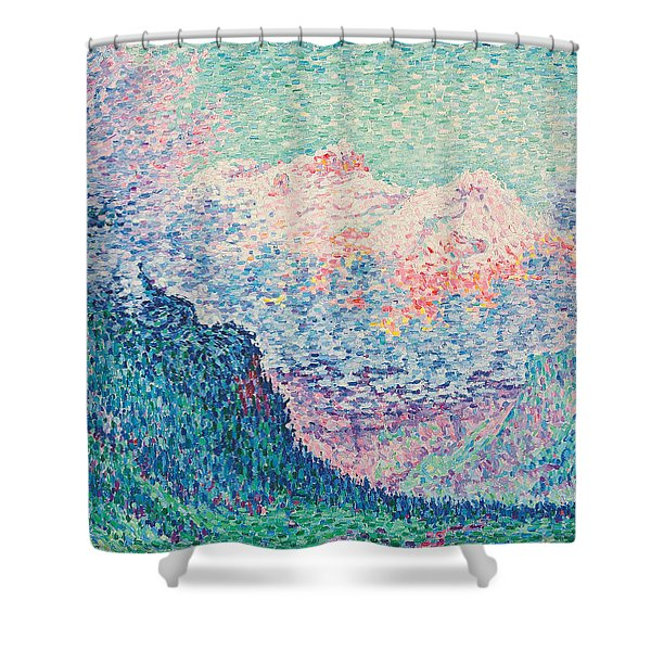 Les Diablerets Shower Curtain