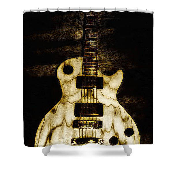 Les Paul Guitar Shower Curtain