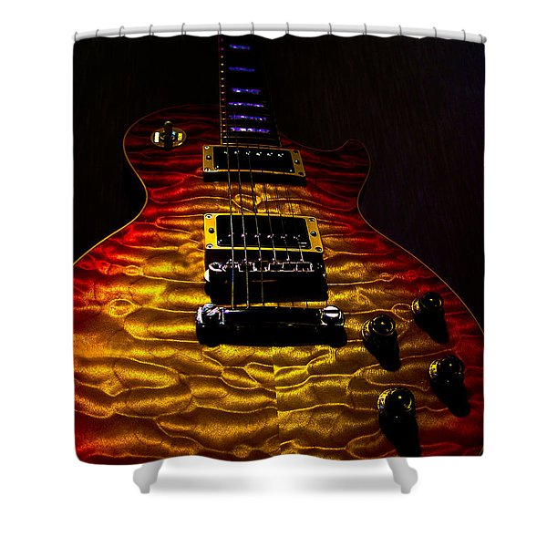 Guitar Custom Quilt Top Spotlight Series Shower Curtain