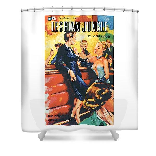 Lesbian Jungle Shower Curtain