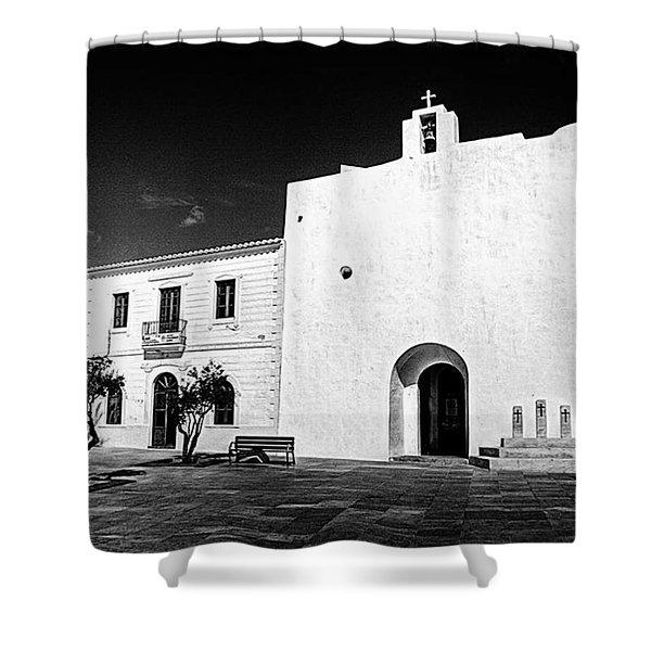 Fortified Church, Formentera Shower Curtain